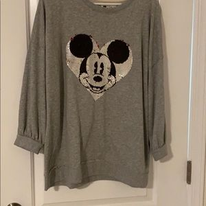 NWT 3/4 sleeve Gap x Disney Mickey Mouse top